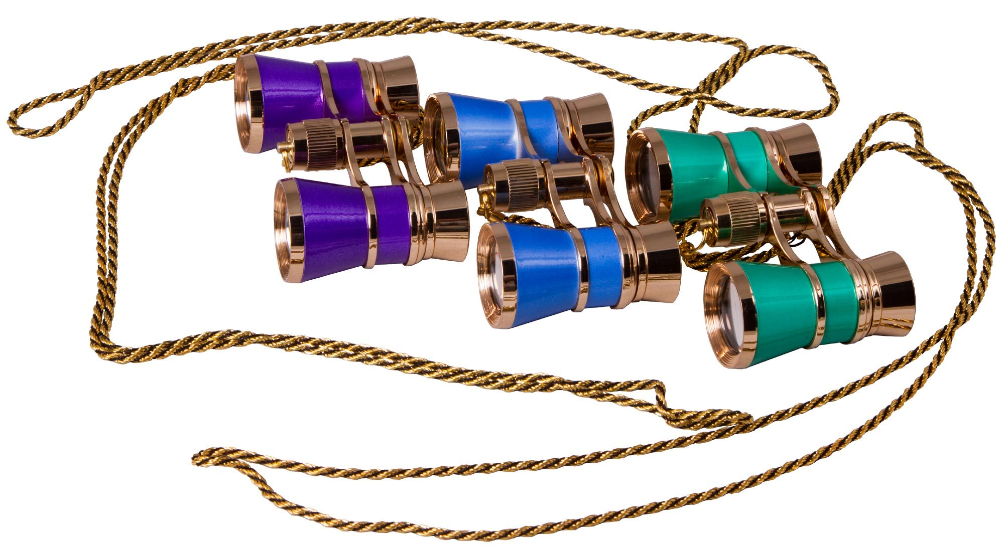 Levenhuk Broadway 325C Blue Wave Opera Glasses with a chain image