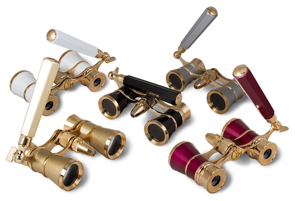 Levenhuk Broadway 325N Opera Glasses (lorgnette with LED light)