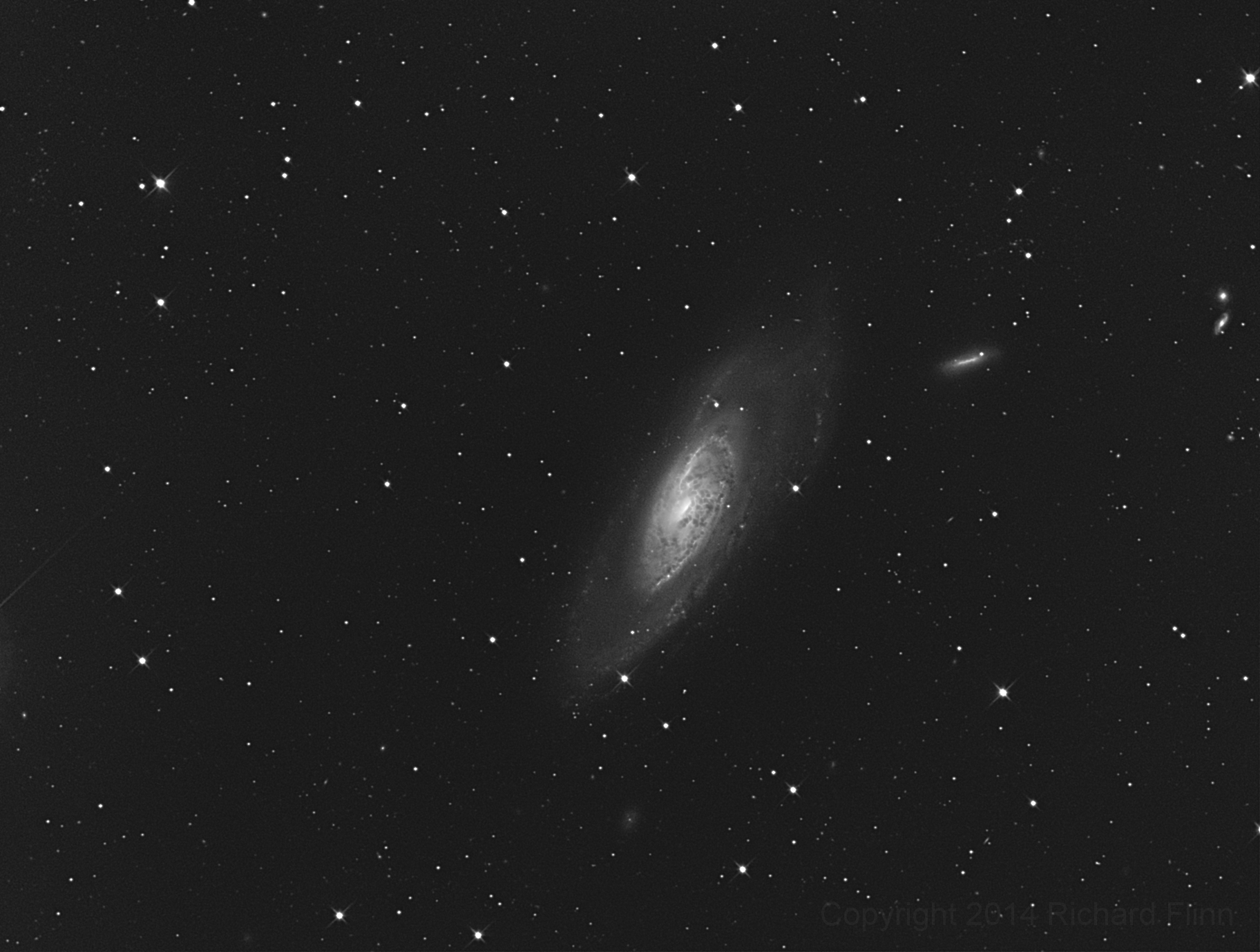 M106 (NGC 4258) - a spiral galaxy in the constellation Canes Venatici