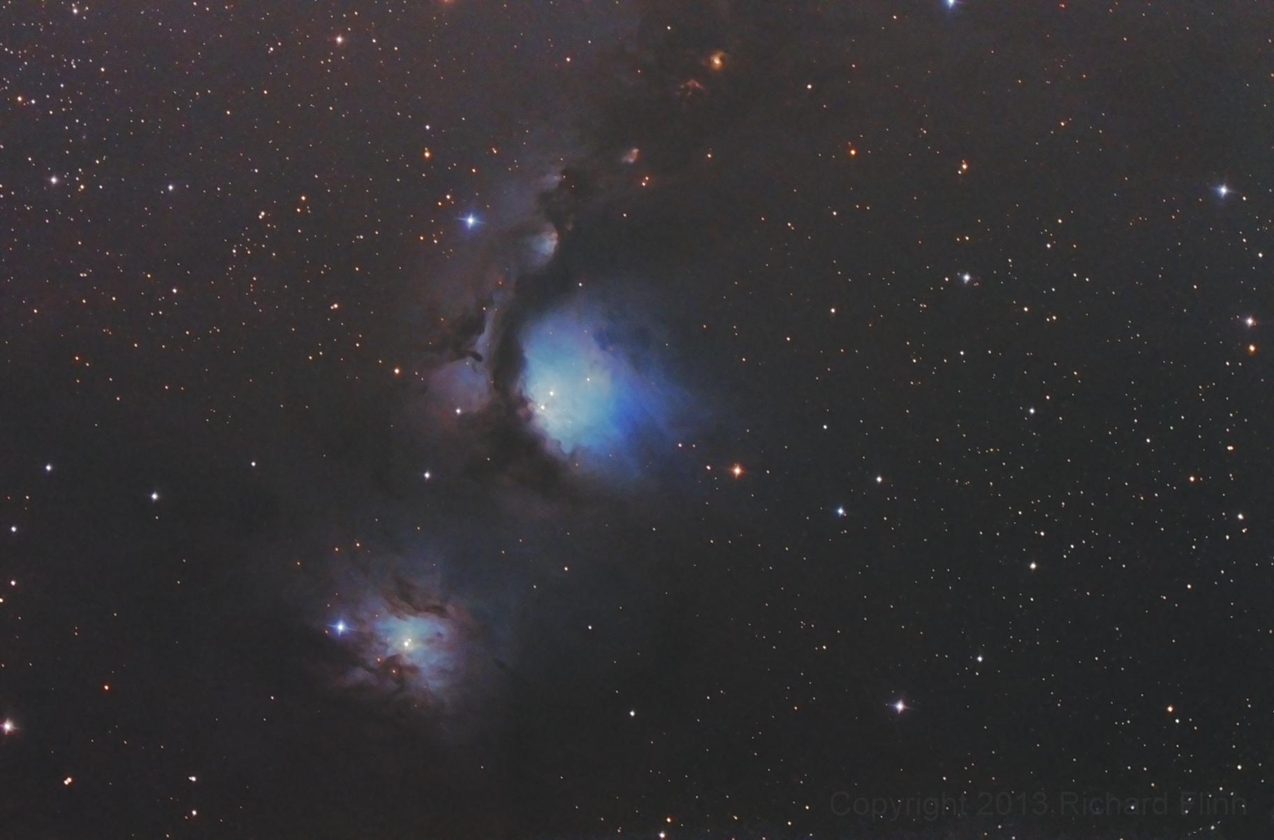 M78 - reflection nebula in the constellation Orion. M78 is the brightest diffuse reflection nebula of a group of nebulae that include NGC 2064, NGC 2067 and NGC 2071.