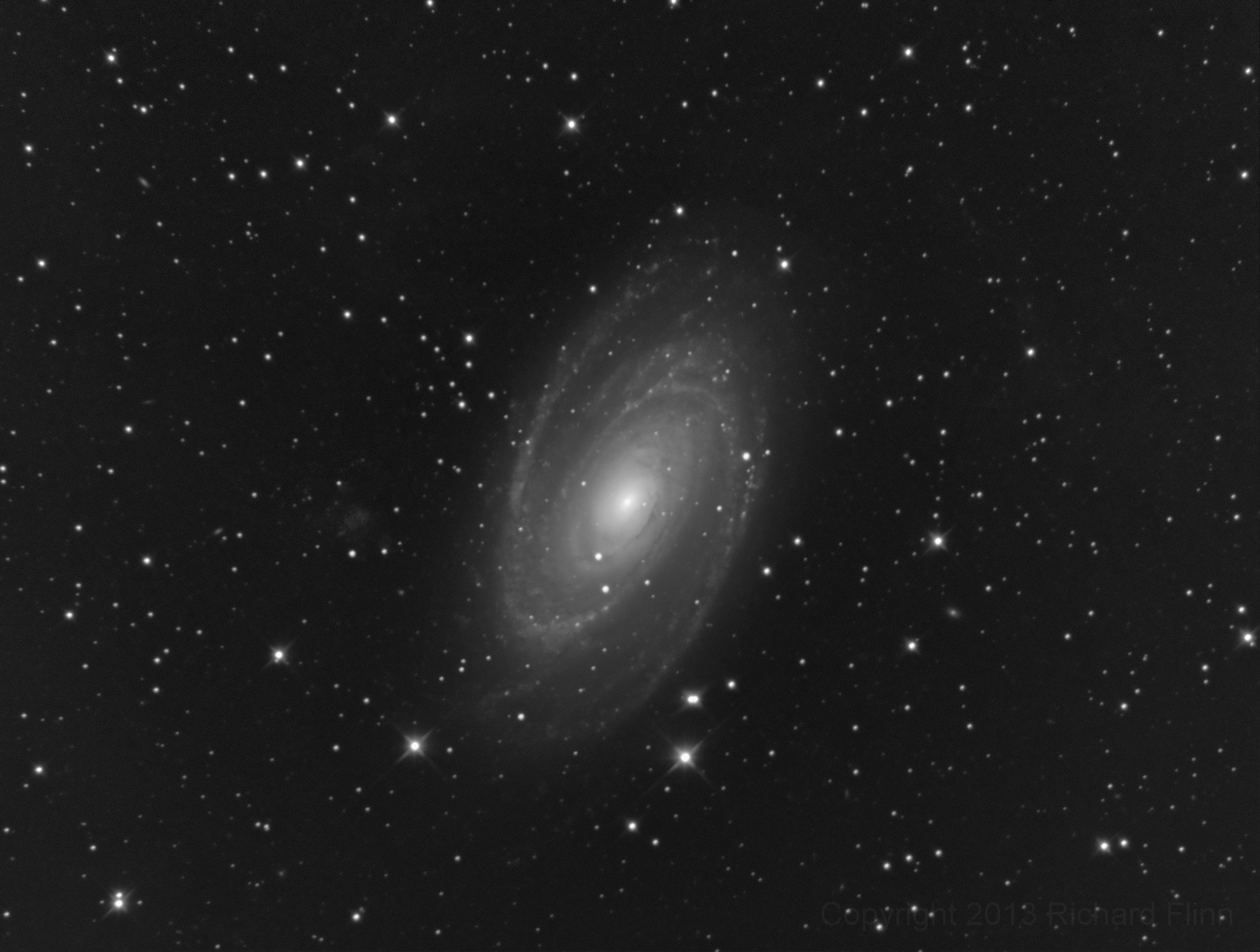 Bode's Galaxy (M81 or NGC 3031) - spiral galaxy in the constellation Ursa Major