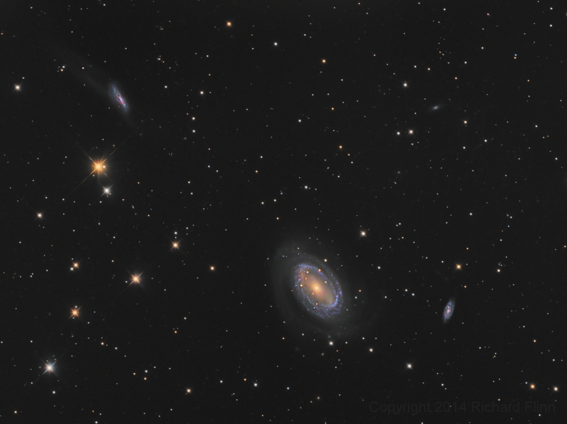 NGC 4725 - spiral galaxy about 40 million light-years away in the constellation Coma Berenices.