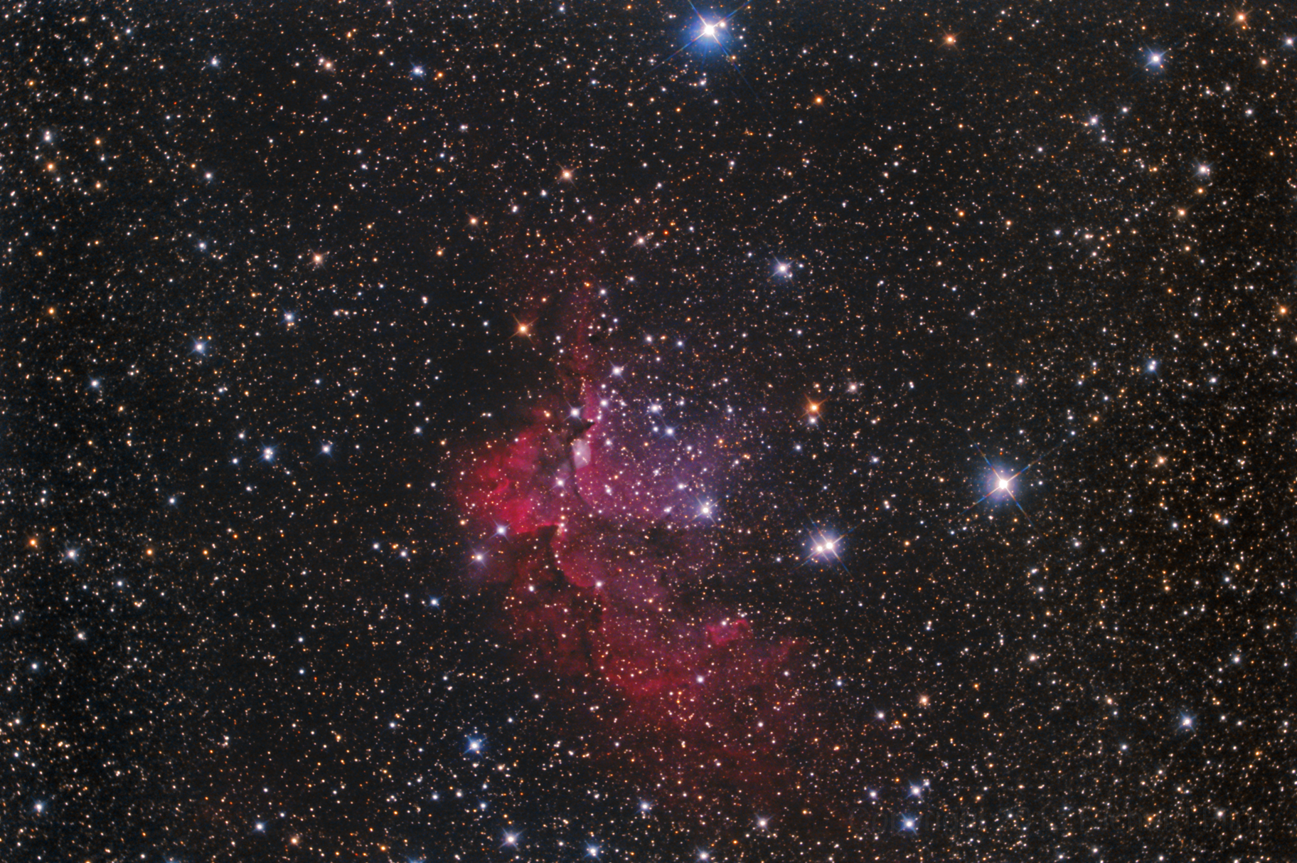 The Wizard Nebula in the constellation Cepheus (NGC 7380)