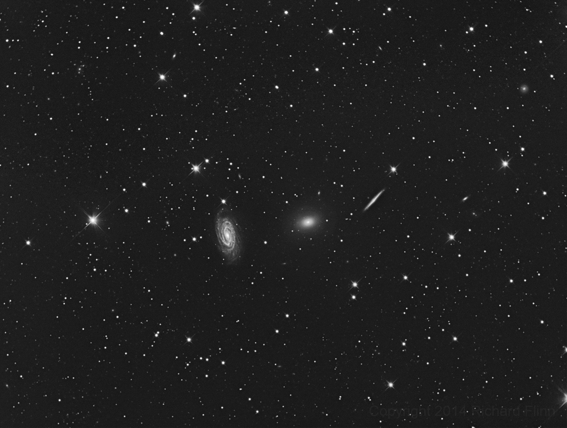 Draco Group (NGC 5985, NGC 5982, NGC 5981, NGC 5976) - small group of galaxies about 100 million Light Years away