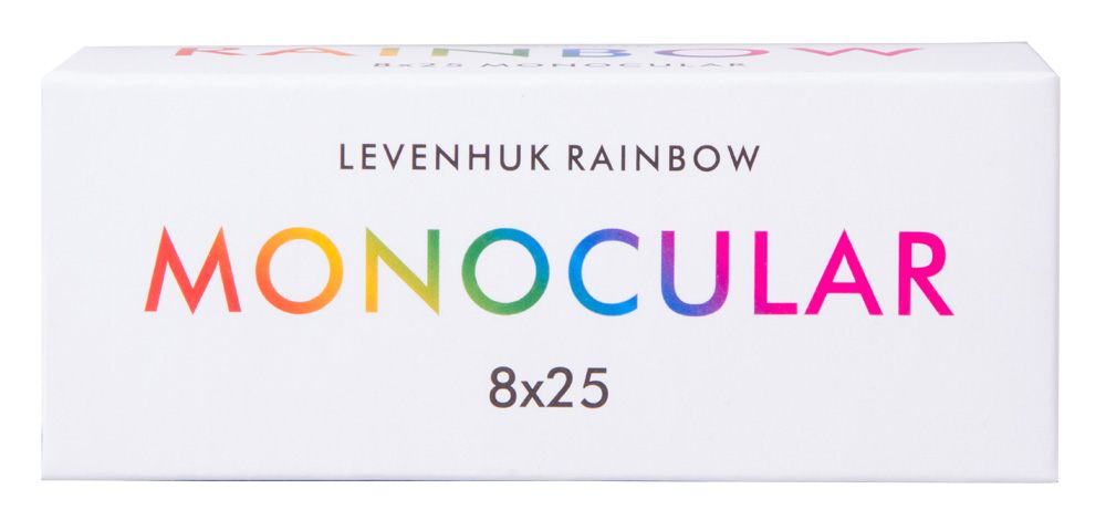 Glass Optics and Pocket-Size Body for Indoor and Outdoor Use Levenhuk Rainbow 8x25 Handheld Blue Wave Monocular with Close Focus of 3m
