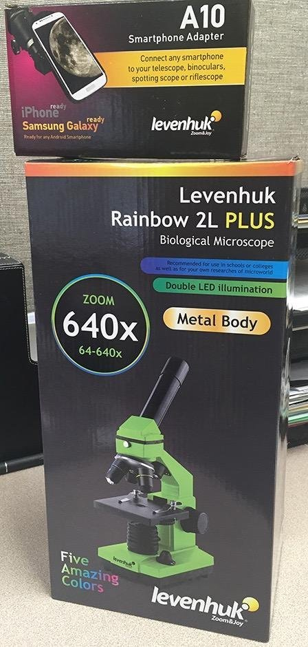 Levenhuk Rainbow 2L PLUS Microscope packaging box