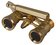 Levenhuk Broadway 325N Opera Glasses (gold lorgnette with LED light) photo